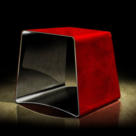CHAIR/STOOL. GEOMETRY RED....